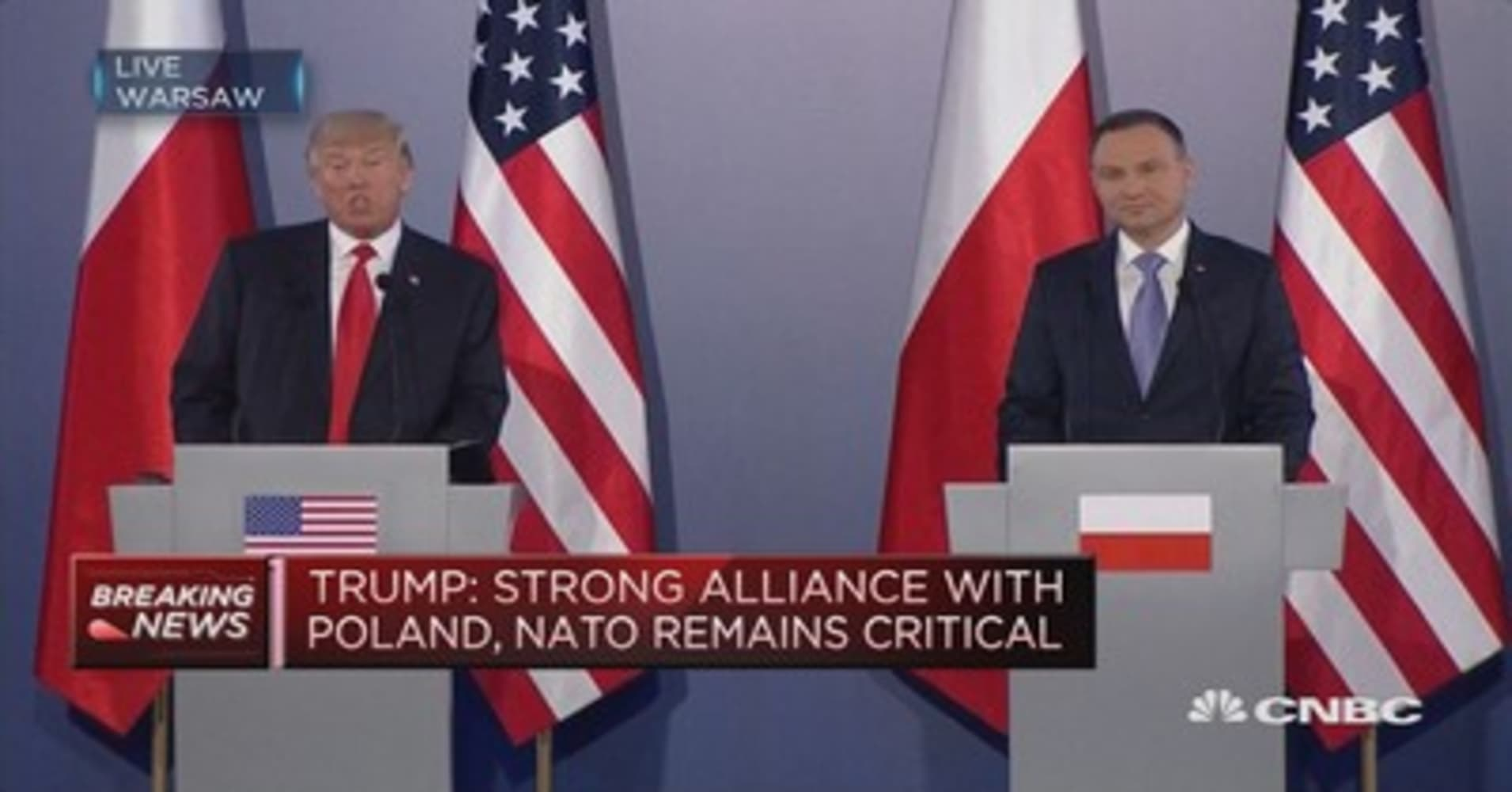 donald trump u0027s speech in warsaw poland ahead of g 20 summit