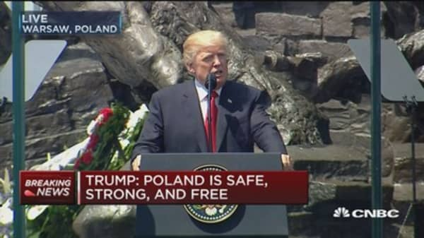 Trump: US eager to expand partnership with Poland