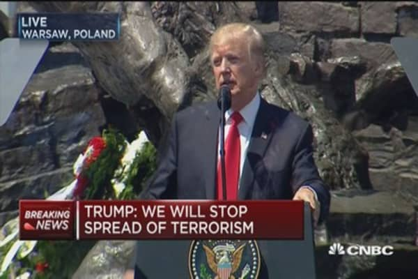 Trump: We will confront threats and we will win