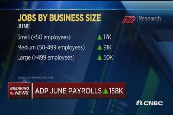 Moody's Mark Zandi: June ADP payrolls show consistent economy