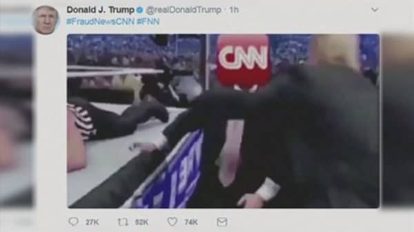 CNN faces backlash over handling of doctored Trump video