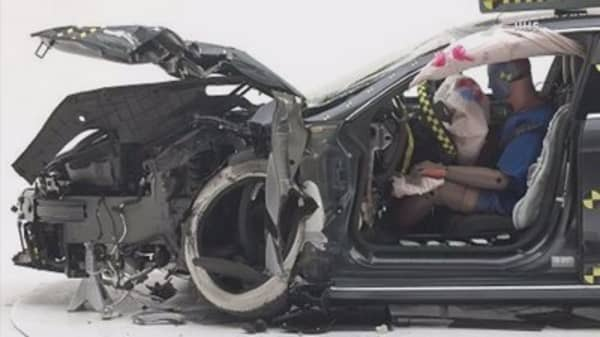 Crash tests raise questions about safety of Tesla Model S