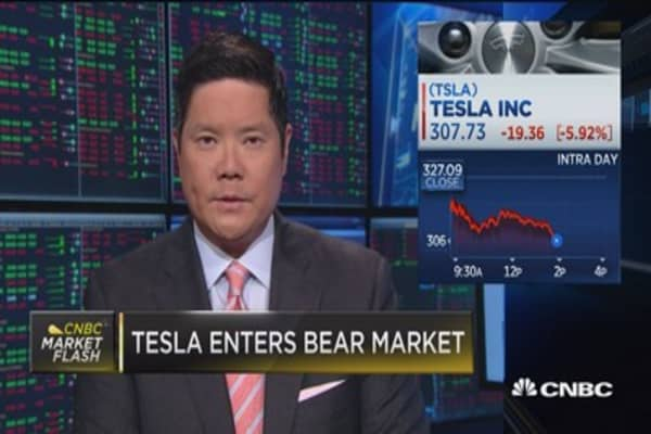 Tesla enter bear market