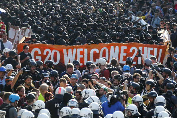 Image result for g20 summit 2017 protest