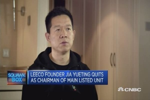 LeEco's chairman steps down