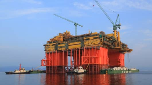 The Ichthys LNG Project's massive central processing facility, to which the floating production storage and offloading unit will connect.