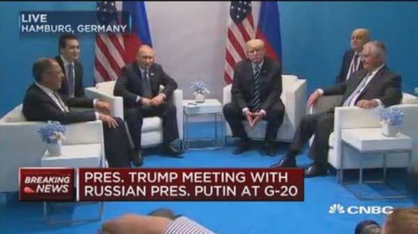 President Trump meets with Russian President Vladimir Putin at G-20 summit