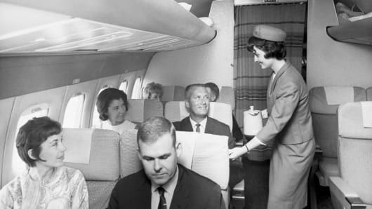 Many of today's beleaguered passengers regard the mid-20th century as the heyday of air travel.