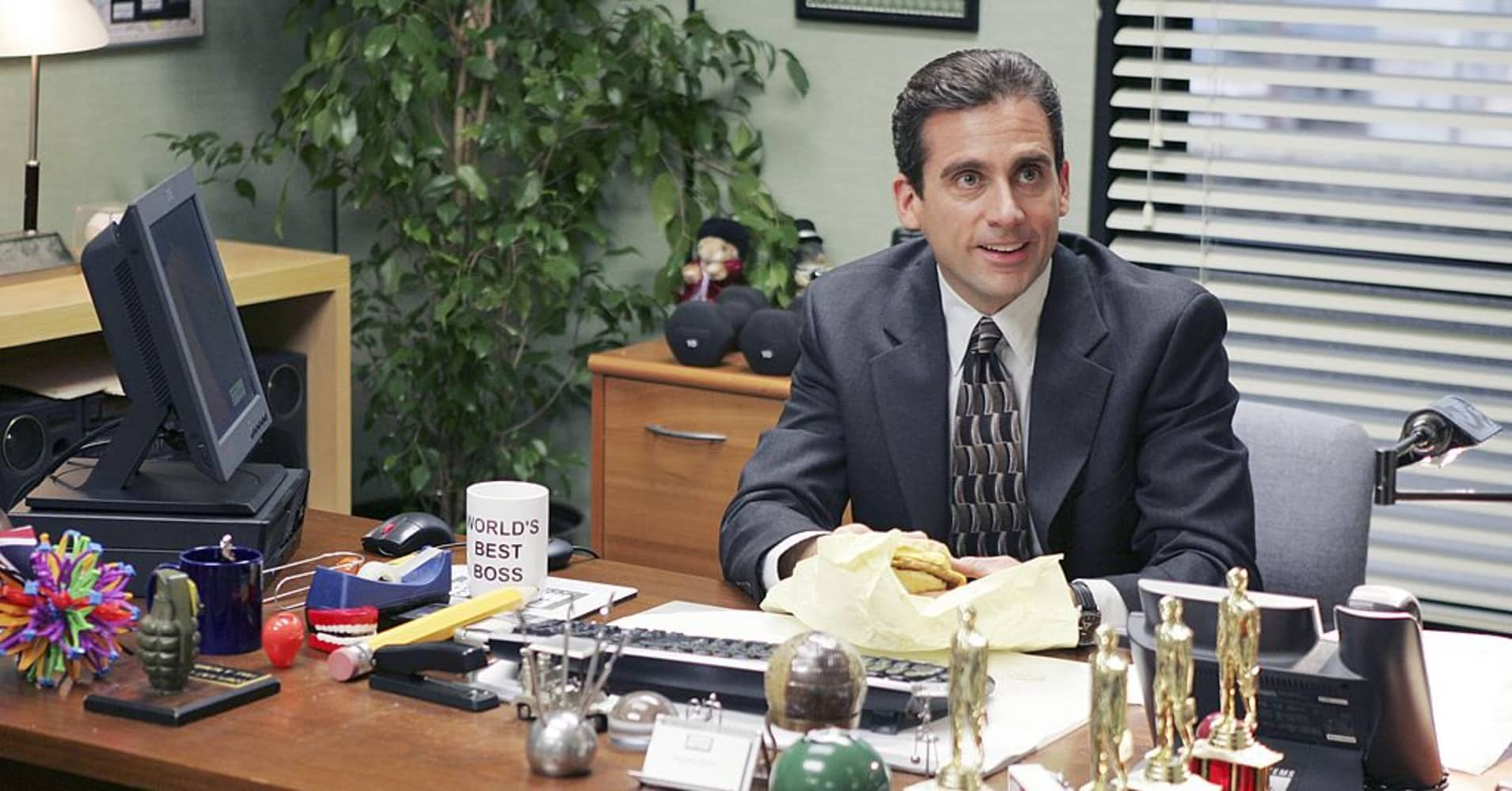 "Steve Carell as Michael Scott in ""The Office."""