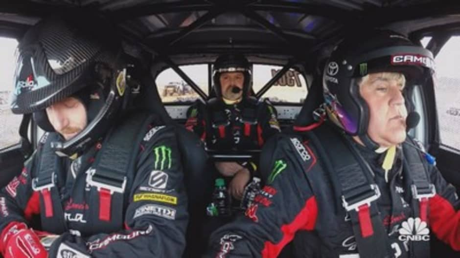 Jay Leno competes in the Mint 400, a 115 mile off-road race unlike any other