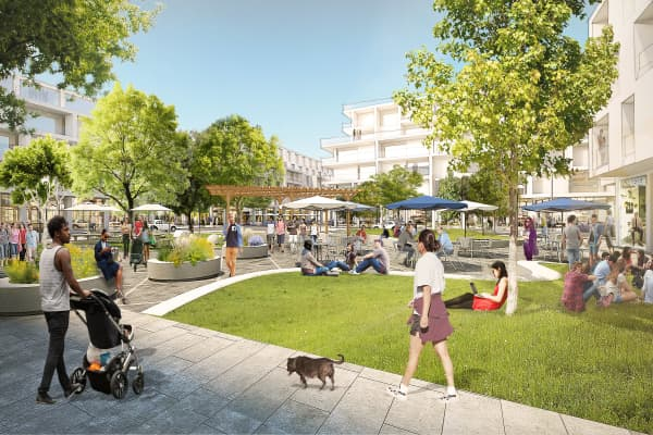 "A rendering for Facebook's ""Willow Campus"" development in Menlo Park, California."