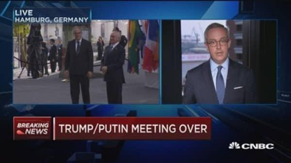 Trump and Putin end lengthy meeting