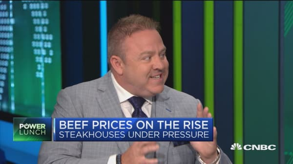 Beef prices on the rise