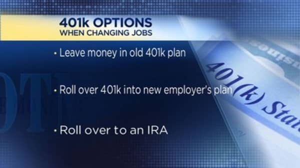what to do with your 401k when you switch jobs