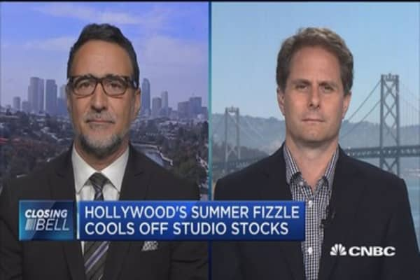 Hollywood's summer fizzle cools off studio stocks