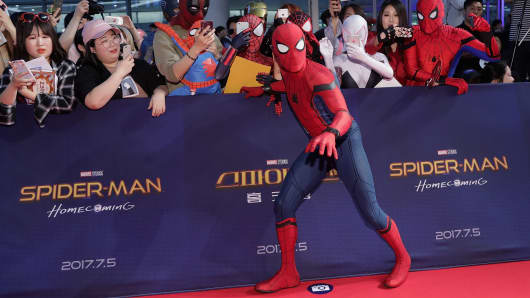 A general view of the 'Spider-Man: Homecoming' Seoul Premiere at Yeongdeunpo Times Square on July 2, 2017 in Seoul, South Korea.