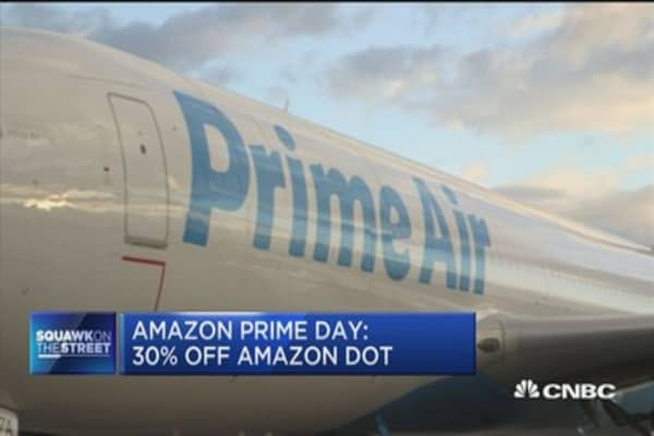 Amazon ramps up transportation ahead of 'prime day'