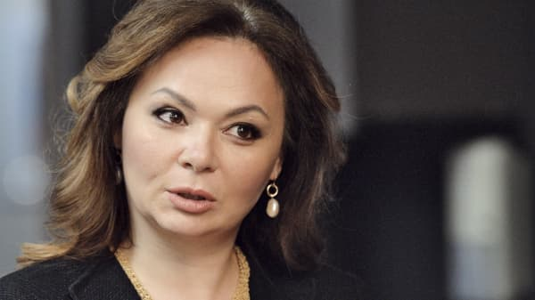 In this photo taken on Tuesday, Nov. 8, 2016, Russian lawyer Natalia Veselnitskaya speaks to a journalist in Moscow