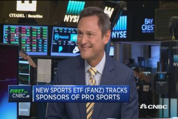 New sports ETF tracks sponsors of professional sports