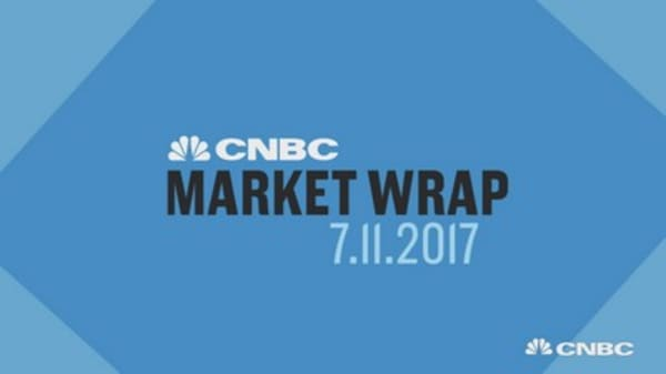 Dow rebounds after midday shock ripples through markets on Trump Jr. emails