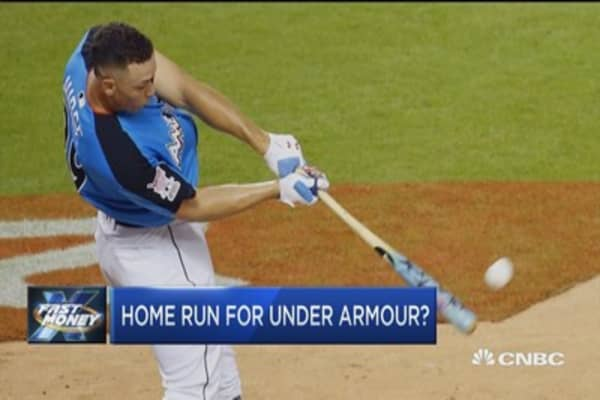 Will baseball save beaten down Under Armour?