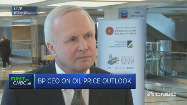 BP CEO: On a daily basis, oil market is in balance