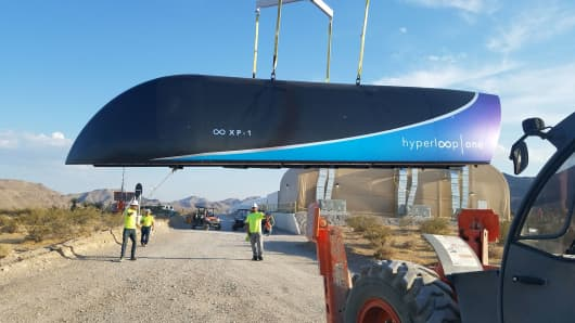 Hyperloop One floats vehicle above track in first full-scale test