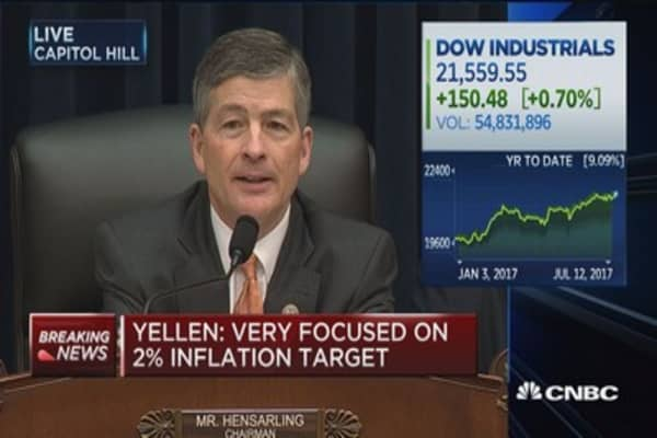 Yellen: We are very focused on 2% inflation target