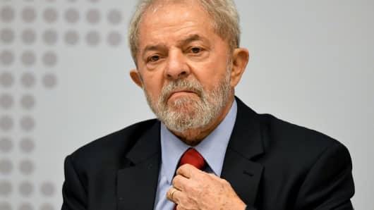 Former Brazilian President Luiz Inacio Lula da Silva last April.