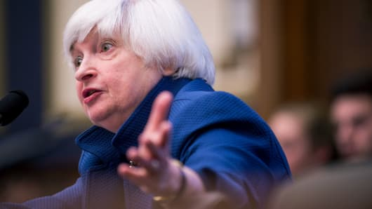 Federal Reserve Board Chairwoman Janet Yellen testifies before the House Financial Committee about the State of the economy on July 12, 2017 in Washington, DC.