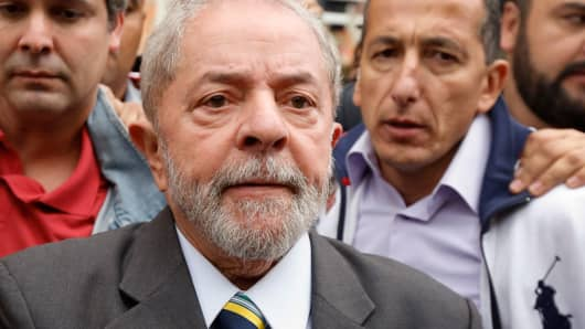 A file photo of the former President of Brazil, Lula da Silva, last May.