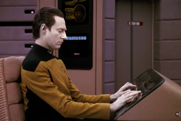 Commander Data in the STAR TREK