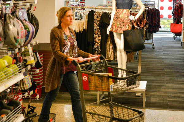 A shopper at a Target store in Arlington, VA.
