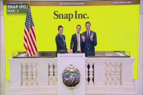 Snapchat shares get much-needed Wall Street upgrade a day after falling to post-IPO low