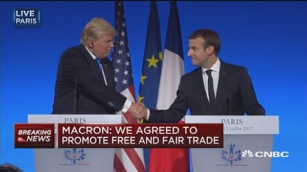 Macron: We share same intentions for Libya