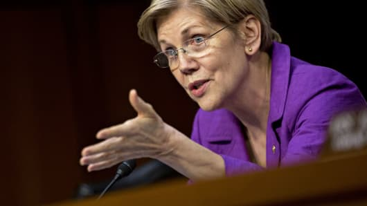 Senator Elizabeth Warren, a Democrat from Massachusetts