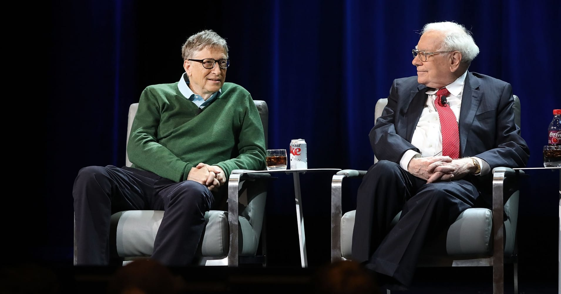 Warren Buffett and Bill Gates speak at Columbia University