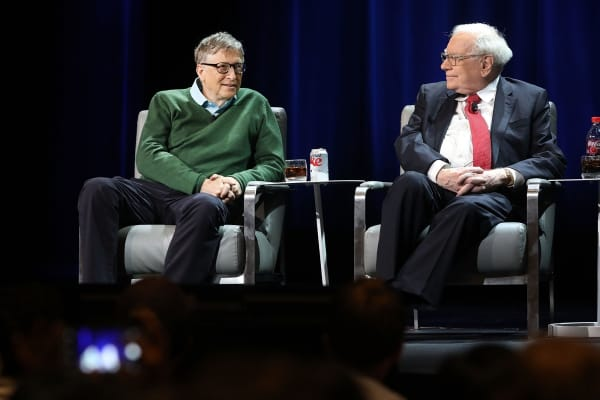 Warren Buffett and Bill Gates speak at Columbia University