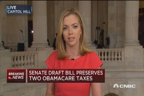 Senate draft bill preserves two Obamacare taxes