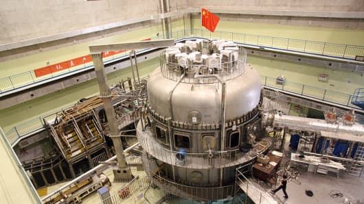 A view of China's nuclear fusion device in the Hefei Institute of Physical Science in Anhui, China, in 2007.