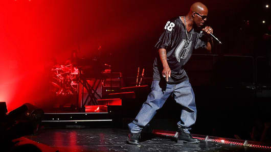 DMX performs at the Verizon Center on September 22, 2016, in Washington, D.C.