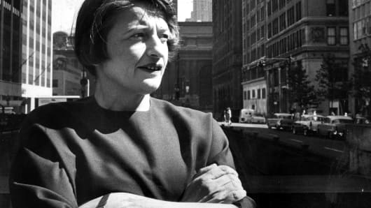 Ayn Rand, a fiction author, in New York, August, 1957.