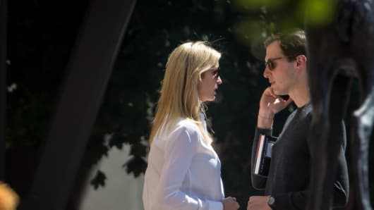 Ivanka Trump, daughter of President Trump, and Jared Kushner, White House senior adviser and son-in-law to the President