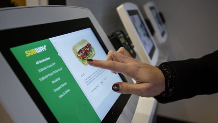 Subway's digital ordering kiosks