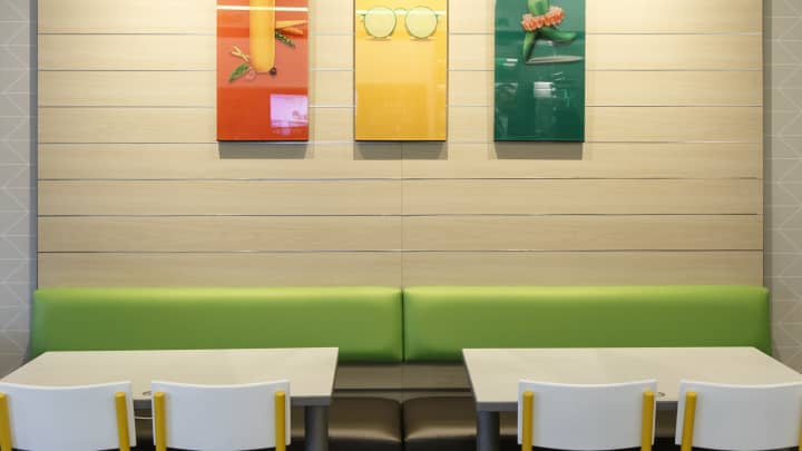 Subway's new dining design