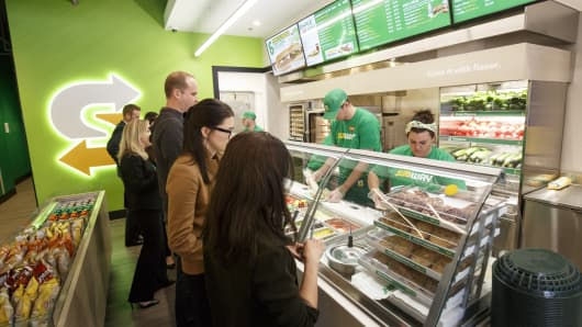 Subway's redesigned front counter