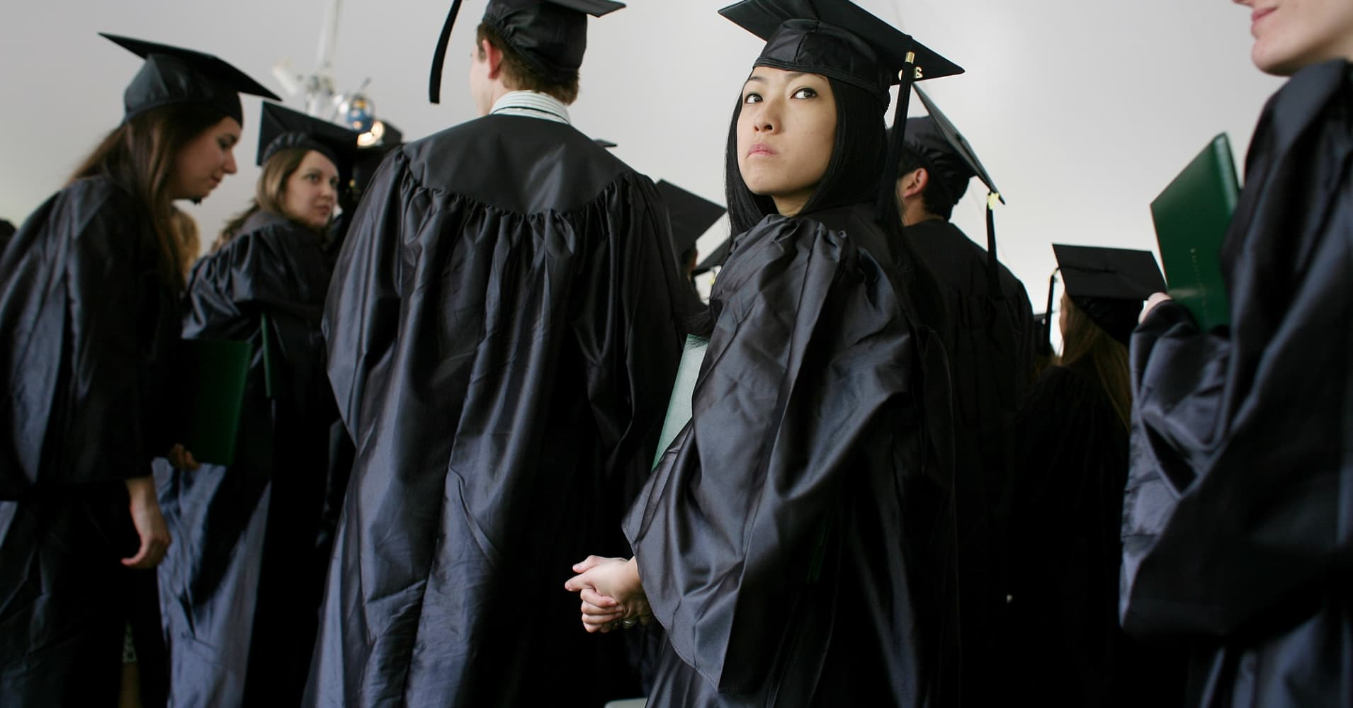 Graduates at Sarah Lawrence College in New York in 2009.