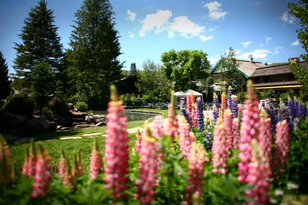 The grounds of the Sun Valley resort in Sun Valley, Idaho, U.S., on Tuesday, July 5, 2011.