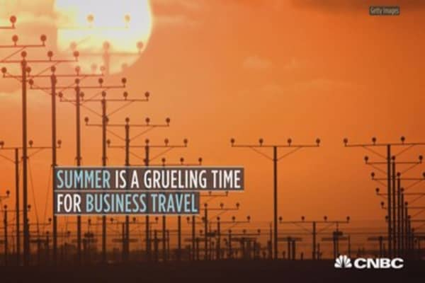 The dog days of summer bring on more airline delays than any other time of year
