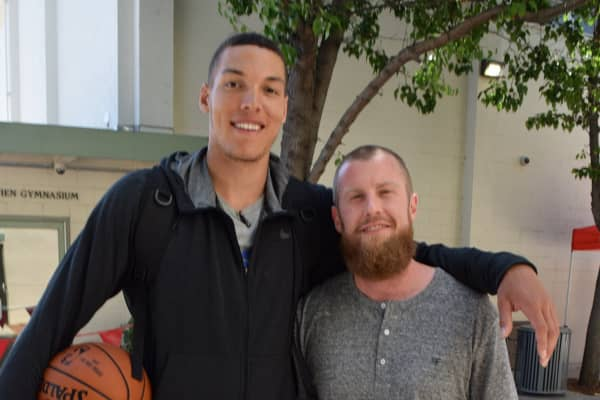 The Orlando Magic's Aaron Gordon with Lucid Performance Director of Mental Training Graham Betchart